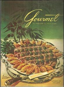Gourmet Magazine September 1954 Around the World by Clipper and Cake Decorating