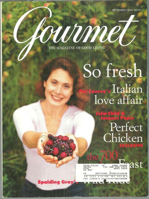 Gourmet Magazine September 1999 Julia Child and Jacques Pepin