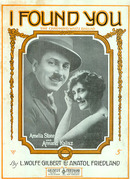 I Found You Charming Waltz Ballad 1919 Sheet Music