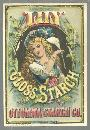 Victorian Trade Card for Lily Gloss Starch With Lovely Lady Holding Lily