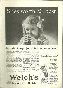 1932 Good Housekeeping Advertisment Welch's Grape Juice She's Worth It