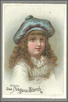 Victorian Trade Card for Niagara Starch with Beautiful Girl