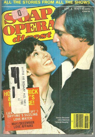 Soap Opera Digest Magazine September 4, 1979 Denise Alexander and Chris Robinson
