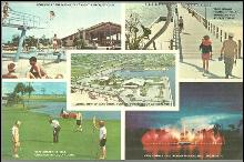 Oversize Postcard of Cape Coral, Florida Multiple Views including Aerial View