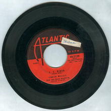 Chuck Willis C. C. Rider/Ease the Pain 45RPM Record