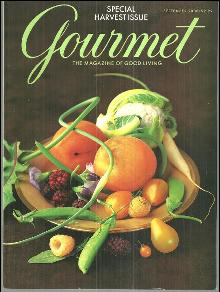 Gourmet Magazine September 2000 Special Harvest Issue on the Cover