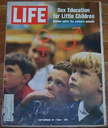 Life Magazine September 19, 1969 Sex Education for Little Children on cover