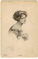 Lovely Lady, Lucile by M. Slocum Postcard 1912
