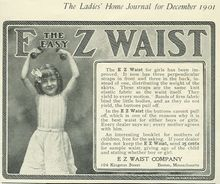 E Z Waist for Girls 1901 Magazine Advertisement