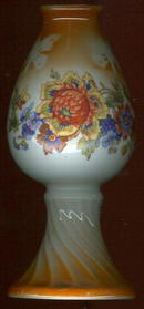 Made in Germany Orange Lustre Floral Vase