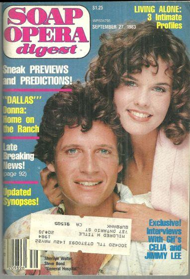 Soap Opera Digest Magazine September 27, 1983  Sherilyn Wolter and Steve Bond GH