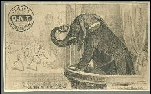 Victorian Trade Card for Clark's Spool Cotton With Jumbo at the Opera