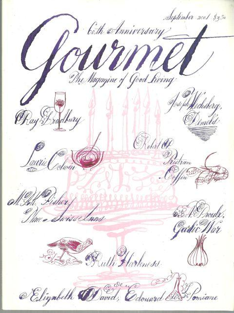 Gourmet Magazine September 2001 Special 60th Anniversary Issue