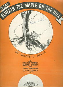 We Sat Beneath the Maple on the Hill 1936 Sheet Music