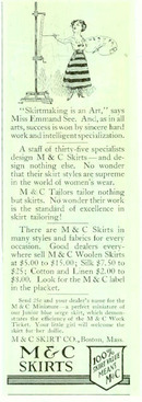 M & C Skirts, Boston, Mass 1916 Magazine Advertisement