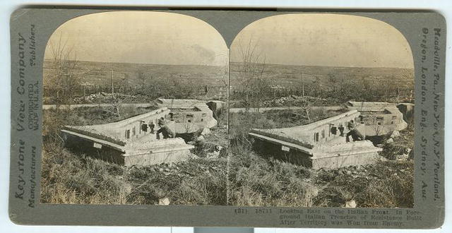 Looking East on the Italian Front World War I Stereoview