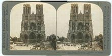 Cathedral of Reims Ruins World War I Stereoview
