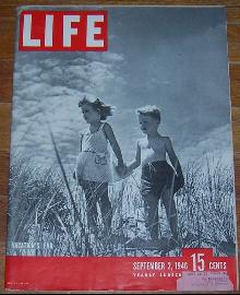 Life Magazine September 2, 1946 Vacation's End on cover