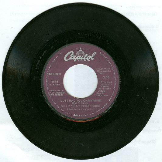 Billy Crash Craddock I Just Had You on My Mind 45RPM Record