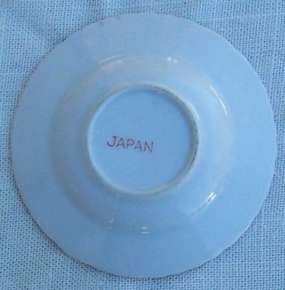 Vintage Moss Rose Small China Round Ashtray Made in Japan