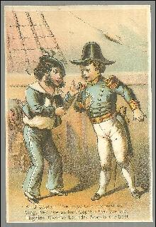 Victorian Trade Card for Higgin's German Laundry Soap with Ship's Captain
