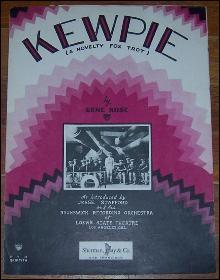 Kewpie A Novelty Fox Trot Introduced by Jesse Stafford 1928 Sheet Music