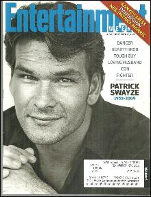 Entertainment Weekly Magazine September 25, 2009 Patrick Swayze on the Cover