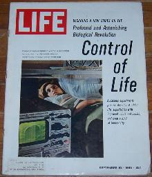 Life Magazine September 10, 1965 Control of Life on cover/Triumph of Gemini 5