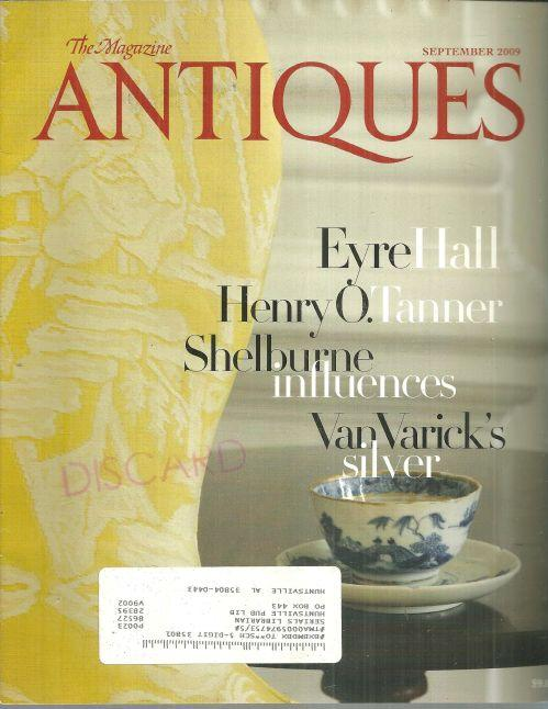 The Magazine Antiques September 2009 Parlor of Eyer Hall On cover