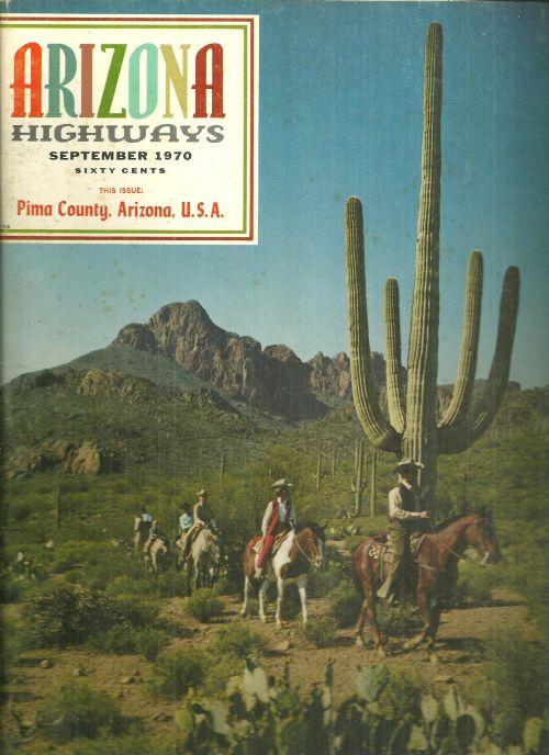 Arizona Highways Magazine September 1970 Pima County, Arizona