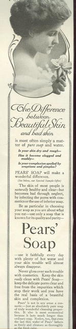 Pear's Soap Beautiful Skin 1915 Magazine Advertisement
