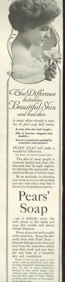 Pear's Soap Beautiful Skin 1915 Magazine Advertisement