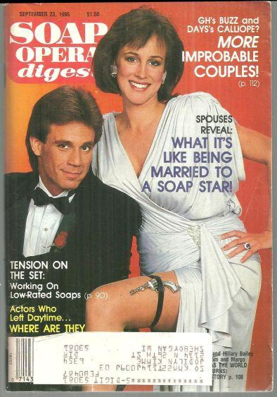 Soap Opera Digest Magazine September 23, 1986 Gregg Marx and Hilary Bailey-Smith