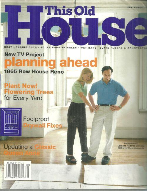 This Old House Magazine September 2000 1865 Row House in Reno on the Cover