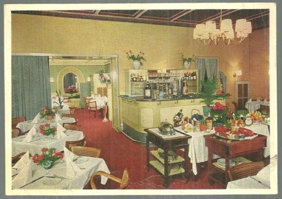 Vintage Postcard of Weinrestaurant Mutter Engel, Wiesbaden, Germany