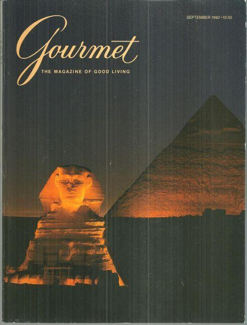 Gourmet Magazine September 1992 Flavors of Cairo, Egypt on the Cover