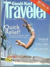 Conde Nast Traveler Magazine October 2001 Prague, Antarctica and Sea of Cortes