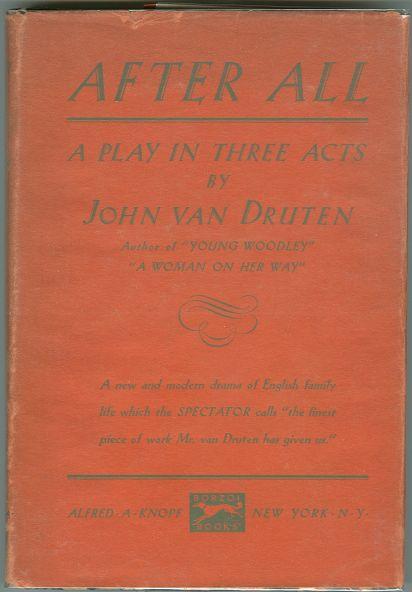 After All, A Play by John Van Druten 1931 1st ed DJ