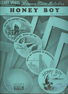 Honey Boy 1936 Memory Lane Melodies Sheet Music