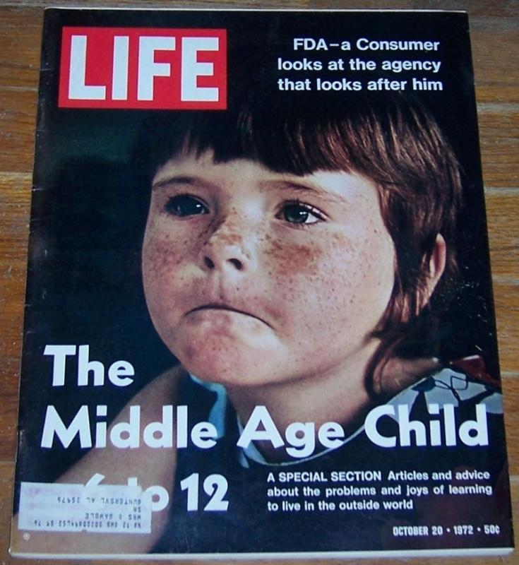 Life Magazine October 20, 1972 The Middle Age Child 6 to 12 on cover