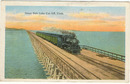 Great Salt Lake City Cut Off, Utah 1921 Postcard