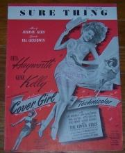 Sure Thing starring Rita Hayworth and Gene Kelly 1944 Sheet Music