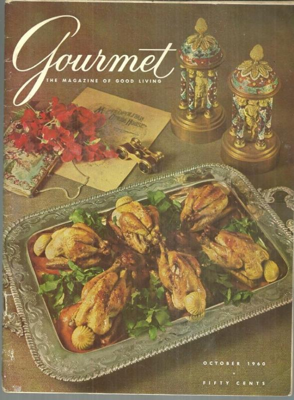Gourmet Magazine October 1960 The Opera Singer, Pinon Harvest, Sparkling Cider