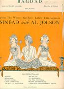 Bagdad from Sinbad Starring Al Jolson 1918 Sheet Music