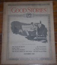 Good Stories Magazine October 1929 Vintage Fiction, Household Chats and Recipes