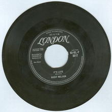 Ricky Nelson Sings It's Late/Never Be Anyone Else But You45 RPM