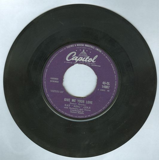 Nat King Cole Give Me Your Love/Madrid 45RPM Record