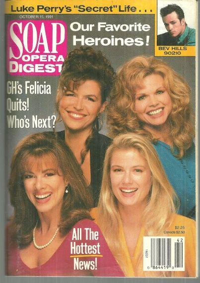 Soap Opera Digest Magazine October 15, 1991  Our Favorite Heroines on the Cover