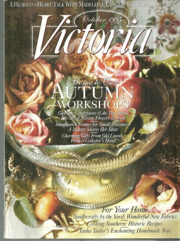Victoria Magazine October 1995 Tasha Tudor Celebrates Heirloom Crafts