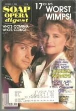 Soap Opera Digest October 7, 1986 Stephen Nicols and Mary Beth Evans From DOOL